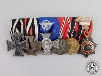 Germany. A First & Second War Turkish Order of Medjidie Medal Bar