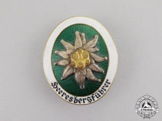 Germany. A Scarce Wehrmacht Alpine Leader Badge by Deschler & Sohn