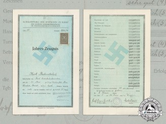 "Germany, Third Reich. An SS ""Prinz Eugen"" Stamped Report, Southeast European Banat"
