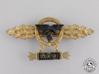 Germany. A Gold Grade Luftwaffe Squadron Clasp for Transport Pilots with 200 Clasp by F. Linden