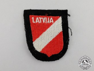 Germany. A Waffen-SS Latvian Foreign Voluteer Sleeve Shield