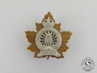 Canada. A First War 3rd Battalion, Canadian Railway Troops Officer's Cap Badge