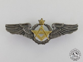 Iran, Pahlavi Kingdom. An Imperial Air Force (IIAF) Navigator Badge