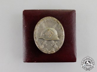 Germany A Silver Grade Wound Badge by Steinhauer & Lück in Case
