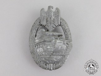 "Germany. A Silver Grade Tank Badge; Unknown ""Daisy"" Variant"