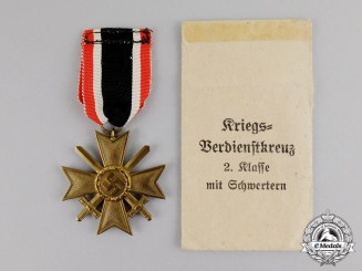 Germany. A Packeted War Merit Cross Second Class with Swords, by Glaser & Sohn
