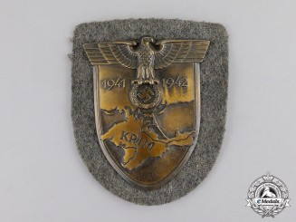 Germany. A Wehrmacht Heer (Army) Issue Krim Campaign Shield