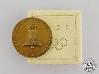 Germany. A 1936 Berlin Olympics Medal in its Original Presentation Box