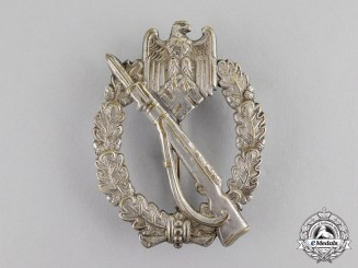 Germany. An Early Example Silver Grade Infantry Assault Badge in Tombac