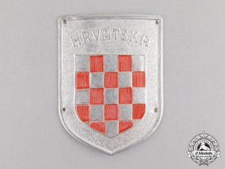 "Germany. A Second War Period ""Hrvatska"" Wehrmacht Volunteer Shield"