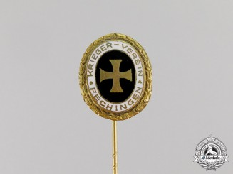 Germany. A Veteran's League Fechingen Membership Stick Pin, c.1937