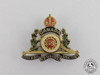 Canada. A First War 69th Overseas Field Battery Sweetheart Badge