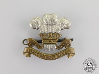 Canada. A Prince of Wales Rangers Cap Badge, c.1942