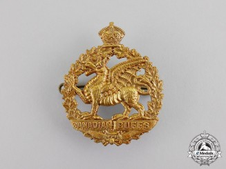 "Canada. An Unofficial 198th Infantry Battalion ""Canadian Buffs"" Cap Badge,c.1917"