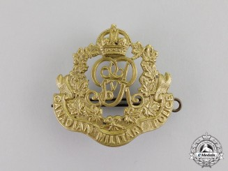 Canada. A Military Police Corps Cap Badge, Second Version with GVR Cypher, c.1917