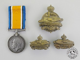 Canada. A British War Medal, to Acting Lance Corporal Smylie, Canadian Tank Battalion