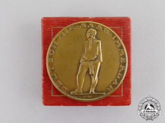"Germany. A 1935 ""The Saar is German Forever"" Vote Medal in its Presentation Box"