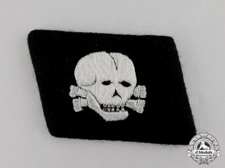 "Germany. A Fine NCO's Collar Tab of the Waffen-SS 3rd Panzer Division ""Totenkopf"""