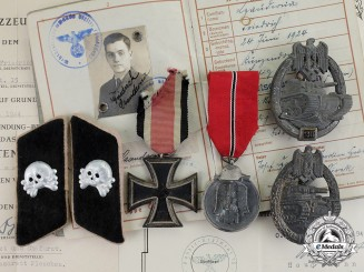 Germany. An Award & Document Grouping of Panzer Gefreiter Czauderna; WIA on Eastern Front
