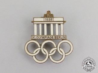Germany. A 1936 XI Summer Olympic Games in Berlin Badge by Werner Redo