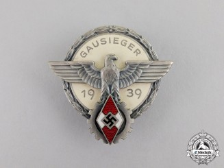 "Germany. A 1939 Victors Badge in the National Trade Competition -""Gausieger"""