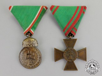 Hungary, Kingdom. Two Military Decorations & Awards