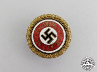 Germany. An NSDAP Golden Party Badge; Small Version; Numbered