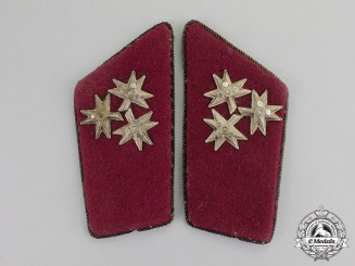 Croatia (1941-1945). A Pair of Collar Tabs for Satnik (Captain), c.1941
