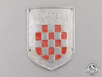 "Germany. A ""Hrvatska"" Wehrmacht Volunteer Shield"