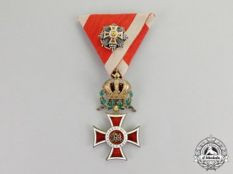 Austria, Empire. An Order of Leopold, Knights Cross with War Decoration & Miniature GC, c.1915