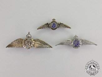 Canada. Three Royal Canadian Air Force (RCAF) Sweetheart Badges