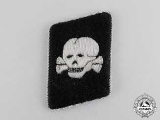 Germany. A Mint SS Totenkopf Officer's Collar Tab
