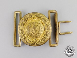 Germany, Forestry. A Prussian State Forestry Officer's Belt Buckle