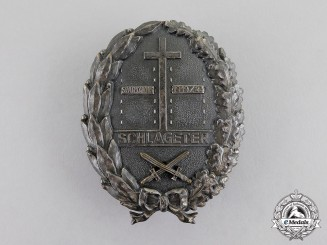 Germany. A Weimar Republic Period Freikorps Schlageter Badge; Second Type by P. Küst