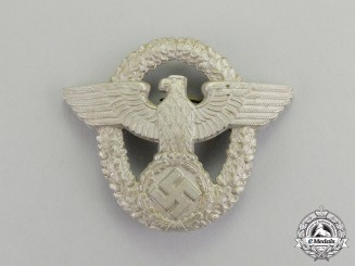 A Mint and Unissued Second War German Police Cap Eagle