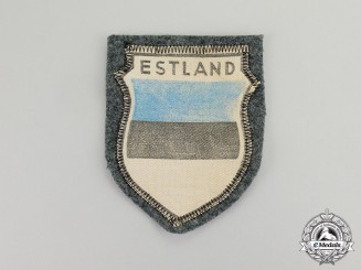Germany. A Wehrmacht Heer (Army) Estonian Volunteer Sleeve Shield