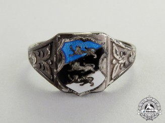 Estonia. A Estonian Patriotic Silver Ring