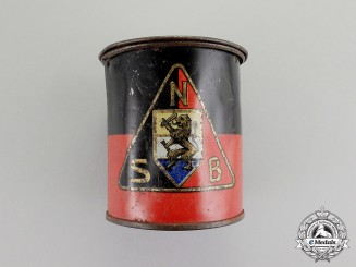 Netherlands. A National Socialist Movement in the Netherlands Donation Tin