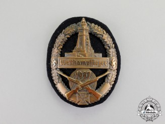 Germany. A 1937 Kyffhäuser League Bronze Shooting Competition Winner Badge