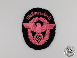 Germany. A Fire Police of Wallmersbach Sleeve Patch