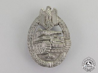 Germany. A Silver Grade Tank Badge by Ferdinand Wiedmann