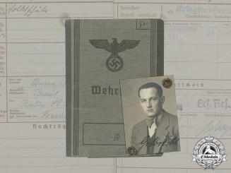Germany. A Wehrpaß to Waffen-SS motorist Kurt Gelbrecht