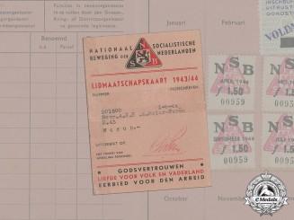 Germany. A Dutch NSB 1944 Membership Card