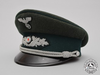 Germany, Forestry. A Forestry Official's Visor Cap, by Deutsche Wertarbeit