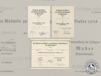 Germany. An Award Document Collection to Oberfeldwebel Pfuhl, 5./Ln.Regt.38