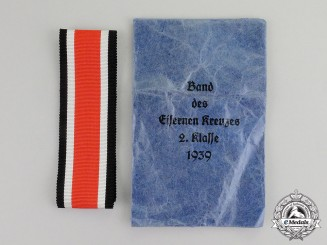 Germany. A Mint Packeted Full Length Ribbon for an Iron Cross 1939 Second Class