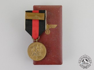 Germany. A Entry into the Sudetenland Commemorative Medal with Case