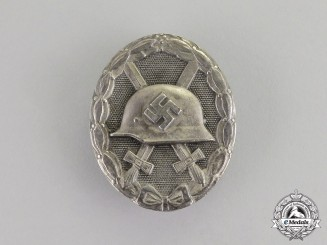 Germany. A Silver Grade Wound Badge by B.H. Mayer of Pforzheim