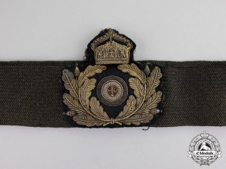 Germany. An Imperial Navy Officer's Cap Badge with Band