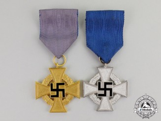 Germany. A 40 Year & 25 Year Civil Faithful Service Cross